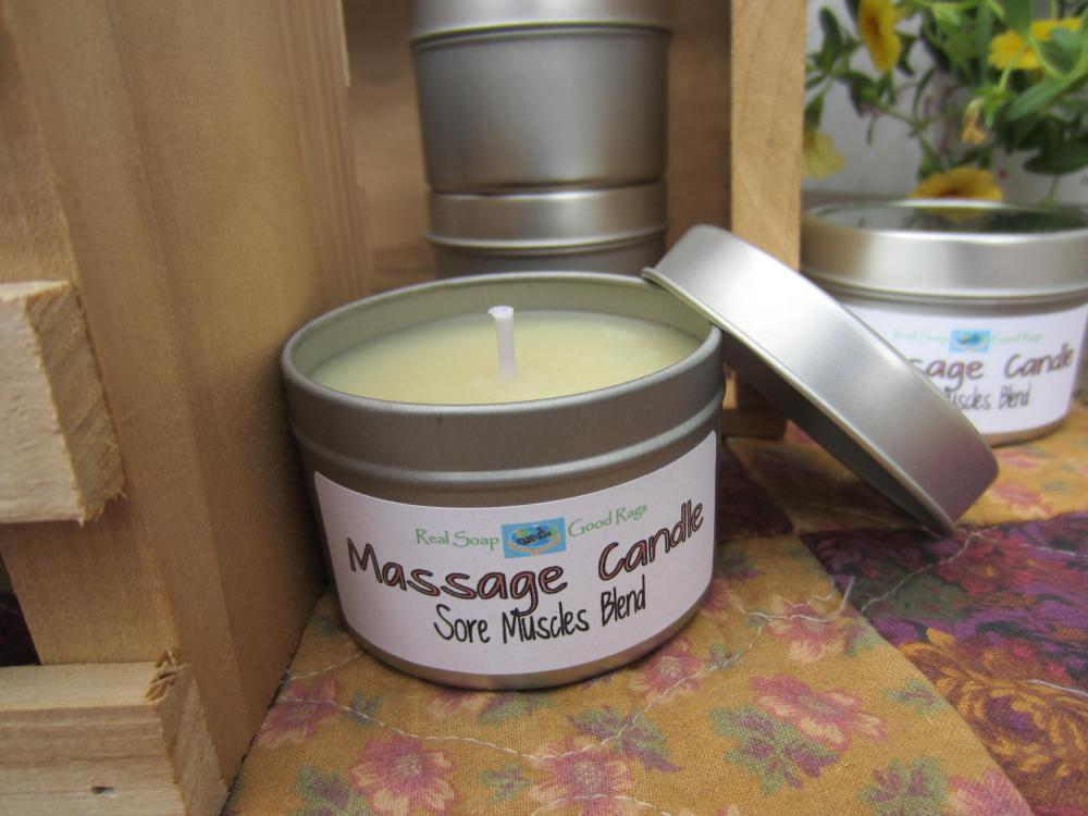 Massage Candle - All Natural Sore Muscle Blend